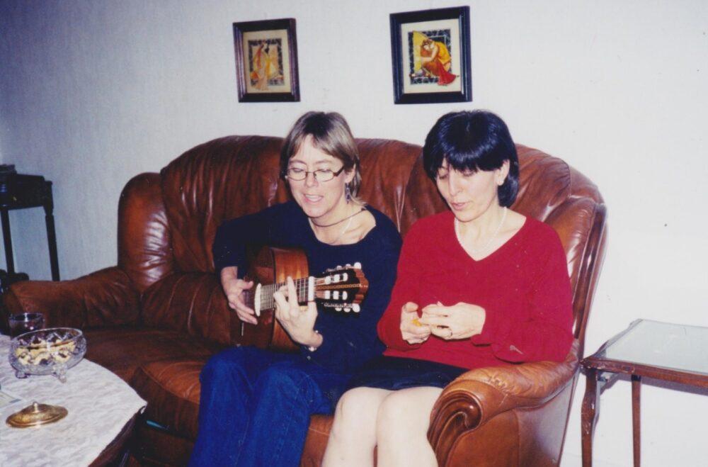 Eva Warberg och Nasrin Pakkho