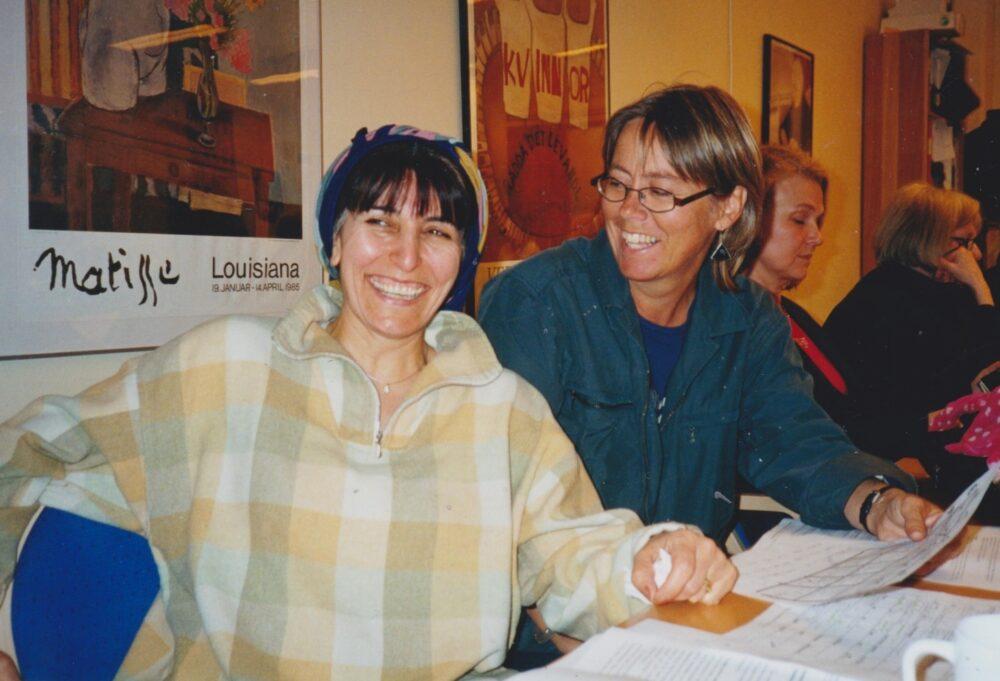 Nasrin Pakkho och Eva Warberg